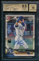 BGS 9.5 AUTO 10 NICKY LOPEZ 2018 Topps Bowman Holiday TURKEY #/35 RC GEM MINT