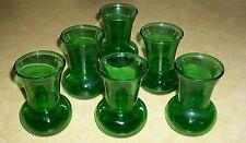 6 VTG RETRO BULB GLASSES GREEN SHOT GLASS BRANDY WINE MID CENTURY MODERN BAR PUB