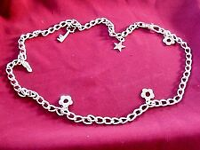 CHUNKY MULTI USE STEEL CHARMS CHAIN BELT/NECKLACE