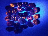 Fluorescent Sodalite from Lake Superior. 4.5 oz. / 127.5 grams ( 25 small rocks)