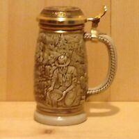 Vintage Collector THE GOLD RUSH Avon USA Lidded Beer Stein Gift MUG