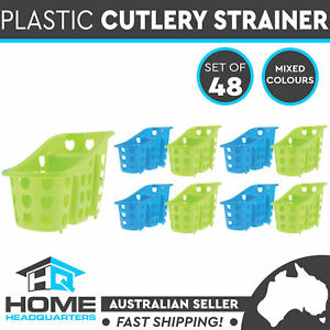 Plastic Cutlery Drainer | Set of 48 | 2 Assorted Colours