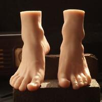 Silicone Lifesize Male Mannequin Foot Display Model Shoes One Stocking Men Zsell