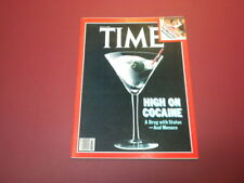 TIME MAGAZINE July 6,1981 HIGH ON COCAINE TV TOO MUCH SEX high grade NO LABEL