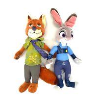 "Disney Collection Zootopia Judy Hopps & Nick Wilde 12"" Plush Stuffed Animal Toy"
