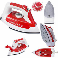 New Hoover TIL2200 Ironjet Ceramic Soleplate Anti-Drip 2200W Steam Iron Red