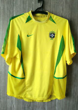 Brazil national Brasil Yellow Football Shirt Soccer Jersey Maglia Camisa Size XL