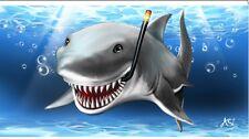 """Shark Smiling / Sun Rays 30""""x 60"""" Beach Towel"""