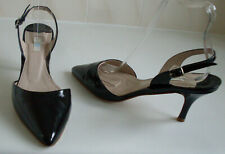 BODEN Black Ankle Strap Pointed Toe Heels Court Shoes Size EU 38 UK 5 RRP £129