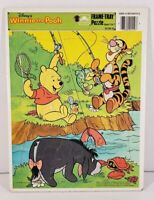 Disney Winnie The Pooh Frame Tray Puzzle Golden Collectible #4510D-53Complete
