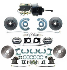 """64-66 Ford Mustang Front & Rear Disc Brake Kit w/ M/C Booster & Prop Valve 8"""" 9"""""""