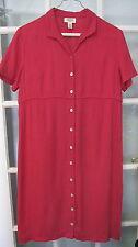 Ladies dark red pink check TALBOTS dress size 12 womens short sleeve $129