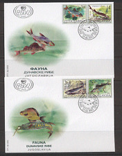 Yugoslavia 2002 Fish/Marine/Nature 4v set FDCs(2) b8623
