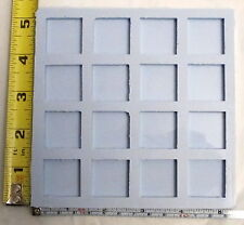 Reusable silicone mold 1 inch square castings 16 cavity cavities resin jewelry