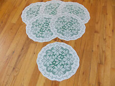 HERITAGE LACE GREEN AND WHITE POINSETTIA SET OF 6 PLACEMATS 13X15 ITEM 4173