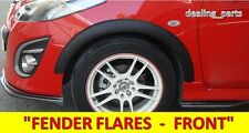 FENDER FLARES FRONT REAR FOR MAZDA 2 DEMIO 5DOOR HATCHBACK 2011 - 2014