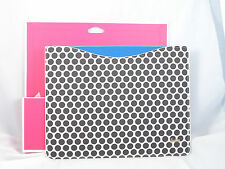 Juicy Couture Black White Polka Dot Tablet I Pad Sleeve YTRYT237 $48