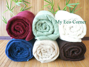 Natural Organic Bamboo Fiber Towel Set (bath/face/wash)..6 colors..Holiday Sale!