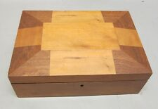 Rare Antique 19th C. American Shaker Sewing Box c. 1880  Inlaid w/ Inner Tray