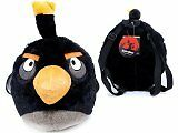 ANGRY BIRDS BLACK BIRD PLUSH DOLLS BACKPACK FITS KIDS TO ADULTS 100% ORIGINAL