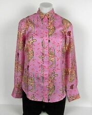 NWT Collection Drake's for J.Crew perfect shirt in Pink Bengal Tiger Sz 0 Peony