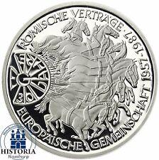 BRD 10 DM Silber 1987 - 30 Jahre Römische Verträge Spiegelglanz Münze in Kapsel