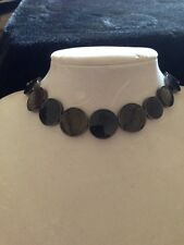 grey acrylic choker necklace