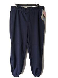 Wilson Women's Pro Softball/Baseball Pants Navy Blue Size XL