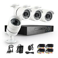 IP66 4CH Full 1080N HD DVR 2.0MP Outdoor CCTV Home Security Camera System Kit