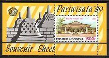 Indonesia - 1989 Tourism / Architecture - Mi. Bl. 69 MNH