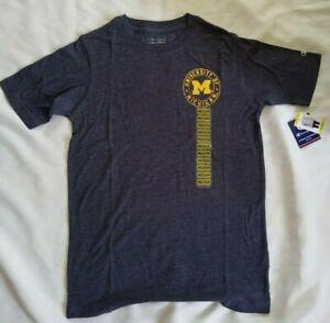 Champion Men's NCAA University of Michigan T-Shirt in Heather Navy -Choose Size