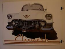 1954 White Cadillac by Clemworth Published by Sparrow Editions 1981 auto poster