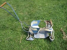 Vintage Taylor Tot Wood and Metal Baby Buggy Stroller Walker Suspension
