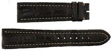 Breitling Dark Brown Leather Watch Band Strap 22mm Lug 18mm Buckle 120mm/80mm