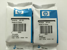 Genuine HP 63 Ink Cartridge Combo-Black/Color for HP 4520 3830 3831 3833 Printer