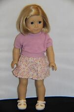"American Girl Doll Retired Pleasant Company Kit Blond / Blue Eyes 18"""