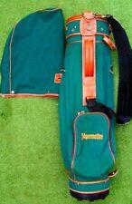 Vintage Jagermeister Golf Bag Green W Leather Trim Good Condition