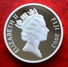2002 Fiji Coin $10  Elizabeth II Proof Silver