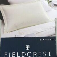 Fieldcrest Linen Standard Pillow Sham Flores  20 x 28 inch Cream Ivory NEW