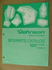 1973 JOHNSON 135 HP MODELS 135ESL73 OUTBOARD MOTOR ENGINE PARTS CATALOG 386140