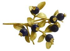 Blueberry Brooch Pin in 24k Gold by Michael Michaud #5666BZG