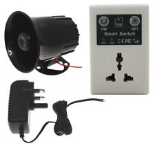 GSM 3-pin Socket Relay Siren Kit (activate the siren using a mobile phone)