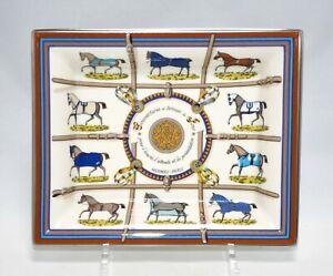 Hermes Couverture et Tenues de Jour Change tray pour l'Ecuriel horse Ashtray