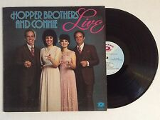 The Hopper Brothers and Connie LIVE vinyl LP 1980 Roger Kirk & Debra Talley NM