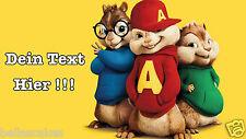 Eßbar Tortenaufleger Alvin und die chipmunks Dekoration mit Text Namen backen