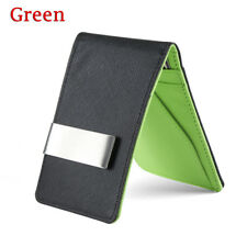 Men's Smart Faux Leather Money Clip Slim Wallet Purse ID Credit Card Holder Gift
