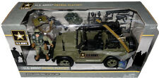 """Official U.S. Army Patrol Playset W/ Action Figure 3.75"""" Scale MIB Jeep Toy USA!"""