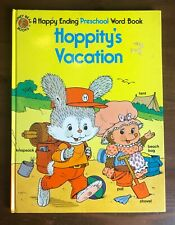 Happy Ending Preschool book HOPPITY'S VACATION Honey Bear Vintage board book