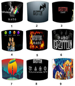 Led Zeppelin Lampshades Ideal To Match Wall Decals Posters Wallpaper Stickers