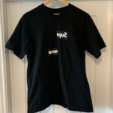 Supreme X Comme Des Garcons / CDG Split Box Logo T-Shirt - Black -Size M Medium